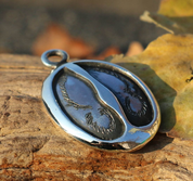 DEER TRACK, SILVER PENDANT - MYSTICA SILVER COLLECTION - PENDANTS