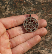 SLAVIC SUN II, BRONZE PENDANT - PENDANTS, NECKLACES
