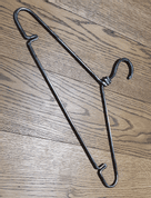 CLOTHES HANGER, FORGED - FORGED IRON HOME ACCESSORIES