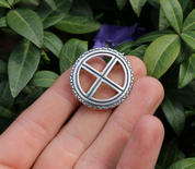 SUN CROSS, SILVER BROOCH - HISTORICAL BROOCHES, SILVER