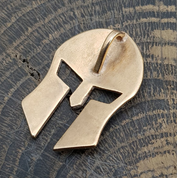 SPARTAN HELMET, BRONZE PENDANT - PENDANTS, NECKLACES