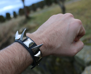 ROCKER, LEATHER BRACELET XIV - WRISTBANDS
