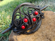 LARGE HAIR PIN, CORALS - FANTASY JEWELS