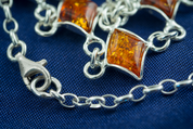 REGINA, AMBER, NECKLACE, STERLING SILVER - AMBER JEWELRY