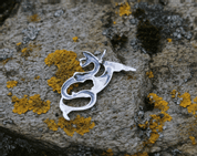 WATER DRAGON, SILVER PENDANT - MYSTICA SILVER COLLECTION - PENDANTS