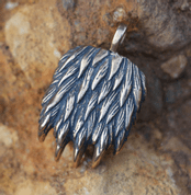 BEAR PAW PENDANT, BRONZE - PENDANTS, NECKLACES