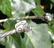 COLLACH, CELTIC TORQUES, TORC, STERLING SILVER - FORGED JEWELRY, TORCS, BRACELETS