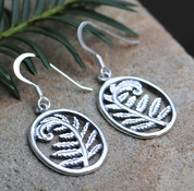 FERN, SILVER EARRINGS - MYSTICA SILVER COLLECTION - EARRINGS