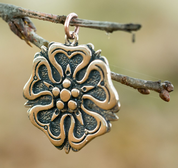 ROSE, HOUSE OF ROSENBERGS, PENDANT, BRONZE - BRONZE HISTORICAL JEWELS