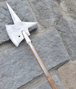 HALBERD WITH CROSS, REPLICA OF A TWO-HANDED POLE WEAPON - AXES, POLEWEAPONS