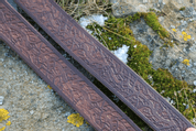 ROOTS, BROWN LEATHER BELT - BELTS