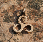 LITTLE TRISKELE, BRONZE PENDANT - PENDANTS, NECKLACES