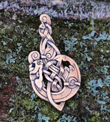 MAC TÍRE, CELTIC WOLF, BRONZE PENDANT - BRONZE HISTORICAL JEWELS