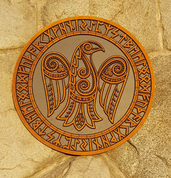 ODIN'S RAVEN, WALL DECORATION - WOODEN STATUES, PLAQUES, BOXES