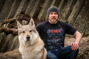 FENRIR ON THE HUNT RED, MEN'S VIKING T-SHIRT - PAGAN T-SHIRTS NAAV FASHION