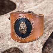 LION HEART, LEATHER BRACELET - WRISTBANDS