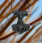 TÓR, THOR'S HAMMER, SILVER - MYSTICA SILVER COLLECTION - PENDANTS