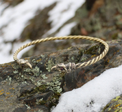 HUGINN AND MUNINN, VIKING TORC, BRASS - FORGED JEWELRY, TORCS, BRACELETS