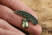 KNIGHT'S HELMET, PENDANT, ZINC, ANT. BRASS - MIDDLE AGES, OTHER PENDANTS