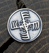 GINFAXI, ICELANDIC MAGICAL RUNE, SILVER - PENDANTS - HISTORICAL JEWELRY