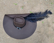 MUSKETEER HAT, FOR RENTAL - COSTUME RENTAL - PARTS OF THE COSTUME