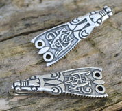SILVER VIKING CLOAK HOOK, ENGLAND - 1 PIECE - PENDANTS - HISTORICAL JEWELRY