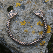 PICTISH BOAR BRACELET, BRONZE - VIKING, SLAVIC, CELTIC BRACELETS - BRONZE AND BRASS