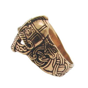 VIKING HELM BRONZE RING - RINGS - BRONZE