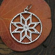 ALATYR - STAR OF ROD, SILVER PENDANT - SLAVIC AMULETS