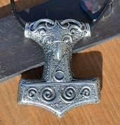 SCANIA, THOR HAMMER, SWEDEN, PEWTER PENDANT - VIKING PENDANTS