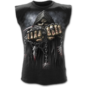 GAME OVER - SLEEVELESS T-SHIRT BLACK - MEN'S T-SHIRTS, SPIRAL DIRECT