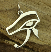 HORUS EYE, ANCIENT EGYPT, SILVER PENDANT - MYTHOLOGY COLLECTION, ANCIENT CULTURES