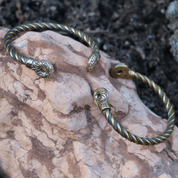 GALLIA, CELTIC BRACELET OF RIX, BRASS - VIKING, SLAVIC, CELTIC BRACELETS - BRONZE AND BRASS