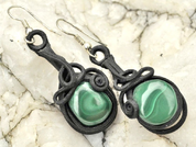 MALACHITE EARRINGS - FANTASY JEWELS