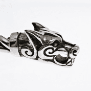 FENRIR, WOLF'S HEADS TORQUES, SILVER 925 - PENDANTS - HISTORICAL JEWELRY