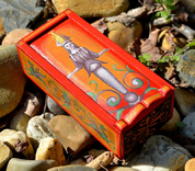 GODDESS, ANCIENT ROME WOODEN BOX, REPLICA - WOODEN STATUES, PLAQUES, BOXES