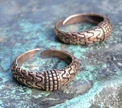 VIKING RING, ORUPGÅRD, DENMARK, BRONZE - BRONZE HISTORICAL JEWELS
