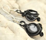 OBSIDIAN  EARRINGS - FANTASY JEWELS