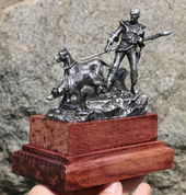 DOG HANDLER FROM KONOPISTE CHATEAU, TIN - PEWTER FIGURES