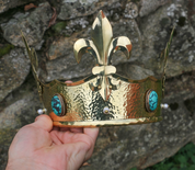 REGIUS, MEDIEVAL CROWN, BRASS - CROWNS AND TIARAS