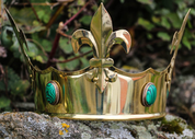 FLEUR, MEDIEVAL CROWN, BRASS - CROWNS AND TIARAS