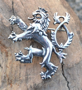 BOHEMIAN LION, STERLING SILVER BROOCH - PATRIOTIC JEWELRY