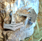 THOR HAMMER - SILVER REPLICA, ROMERSDAL - PENDANTS - HISTORICAL JEWELRY