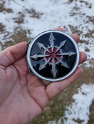 STAR OF CHAOS, BELT BUCKLE - CUSTOM MADE BELTS