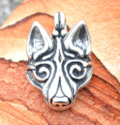 FENRIR, NORSE WOLF PENDANT, SILVER 925, - PENDANTS - HISTORICAL JEWELRY