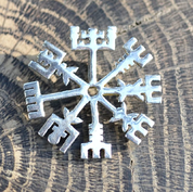VEGVISIR, RUNE, PENDANT FOR PROTECTION, STERLING SILVER - PENDANTS - HISTORICAL JEWELRY