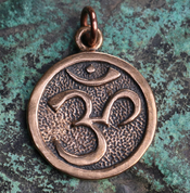 OM, BRONZE PENDANT - MAGICAL AMULETS