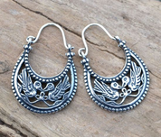 BYZANTINE EARRINGS, X. CENTURY, VIKING RUS, SILVER 925 - PENDANTS - HISTORICAL JEWELRY
