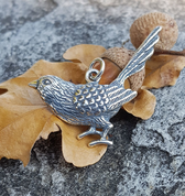 GREAT TIT BIRD, SILVER PENDANT - MYSTICA SILVER COLLECTION - PENDANTS