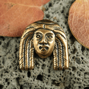 ANCIENT HEAD, PENDANT, BRONZE - PENDANTS, NECKLACES